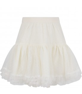 Ivory skirt for girl