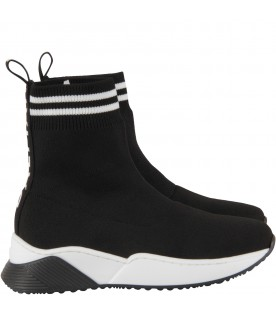Black sneakers for boy