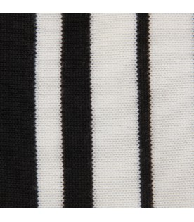 White and black blanket with logo for babykid