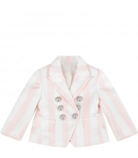 Pink and white babygirl jacket