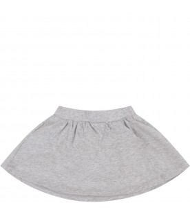 Grey babygirl skirt with baby Teddy Bear