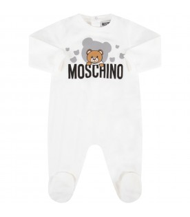 White babykids set with colorful teddy Bear