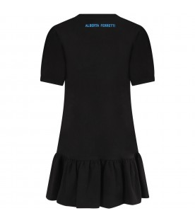 Black girl dress with colorful writing