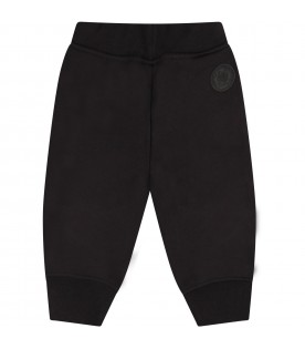 Black pant for baby boy with logo