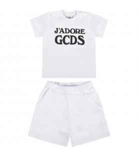 White suit for babykids with black writing
