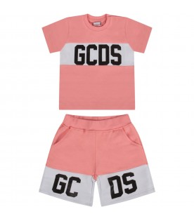 Pink babygirl suit with black logo