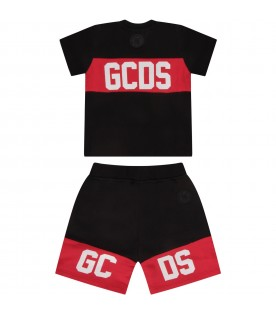 Black babykids suit with white logo