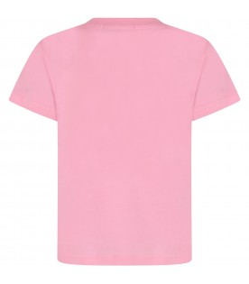 Pink girl T-shirt with logo