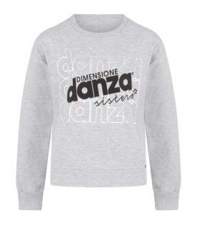 Grey girl sweatshirt with logos