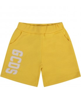Yellow short with logo for babykids