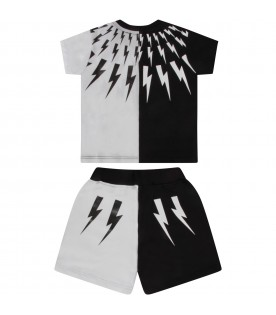 Black and white babyboy suit with iconic bolt
