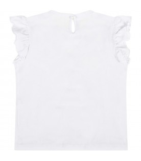 White babygirl T-shirt with logo