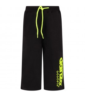 Black trousers with logo for girl