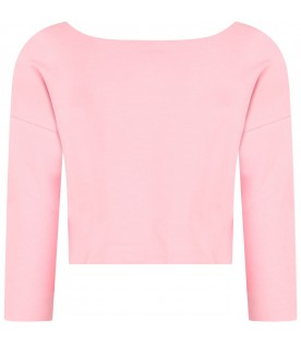 Pink girl sweatshirt with pink logo