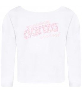 White girl sweatshirt with pink logo