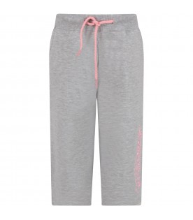 Grey girl trousers with logo