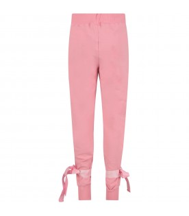 Pink girl sweatpant with logo
