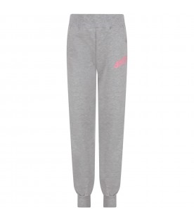 Grey girl sweatpant with logo