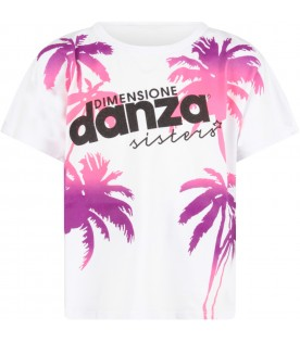 White girl T-shirt with palms