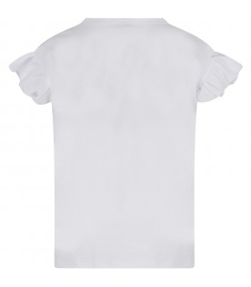 White girl T-shirt with logo