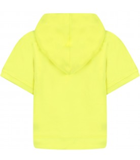 Neon yellow girl sweatshirt with black logo