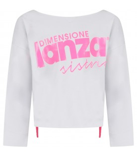 White girl sweatshirt with logo