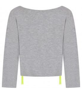 Grey girl sweatshirt with logo