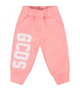 Pink babygirl pant with logo