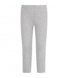 Grey leggings with logo for girl