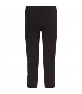 Black girl leggings with logo