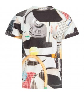 Multicolor boy T-shirt with colorful prints