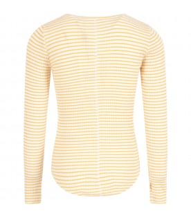 White and yellow T-shirt for girl