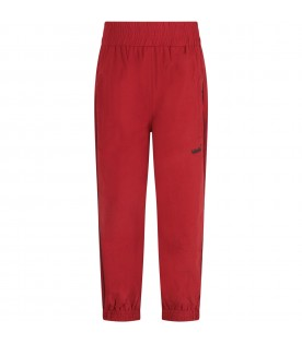 Red pants for boy with logo