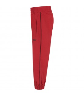 Red boy pants with logo