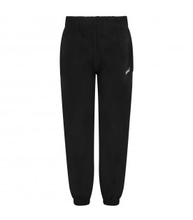 Black kids sweatpants with logo