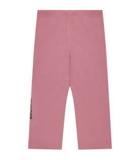 Pink leggings with logo for girl