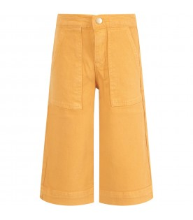 Yellow-ochre jeans for girl