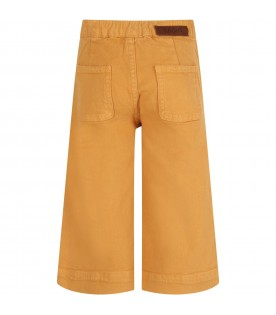 Yellow-ochre girl jeans