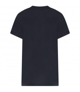 Blue boy t-shirt with double logo