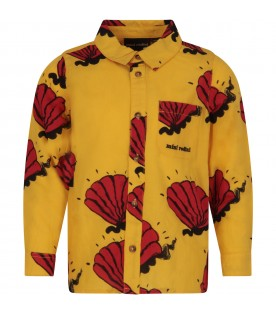 Yellow girl shirt with red shells