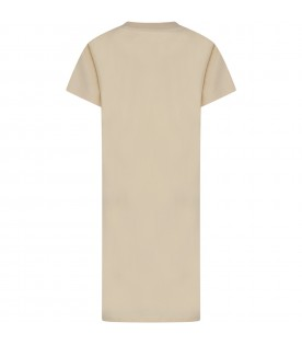 Ivory girl dress with shell