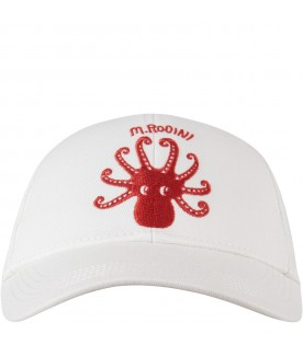 Ivory kids hat with logo