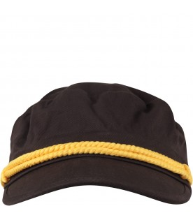 Black kids hat with logo