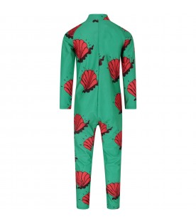Green kids suit with shells