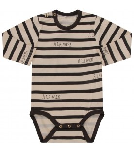 Ivory and grey body for babykid with grey writing