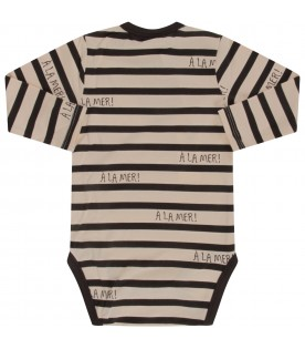 Ivory and grey body for babykids with grey writing