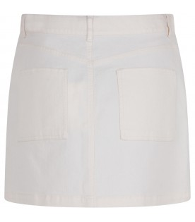 White woman skirt with red iconic cherries