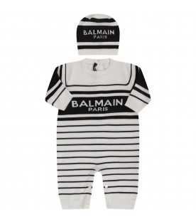 White and black set with white double logo for babykid