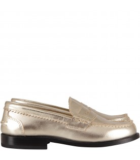 Platinum mocassin for girl