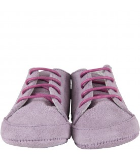 Purple shoes for baby girl